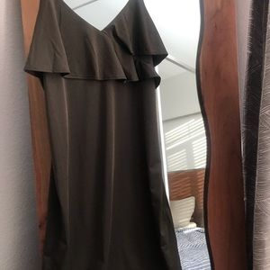 Olive green mini dress from H&M. XS, like new.